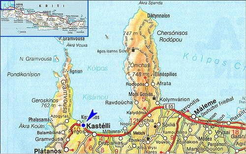 Kastelli Kissamos: Site Map